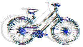 Sports color bicycle. Royalty Free Stock Photo