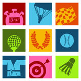Sports color icons 2 Stock Photography