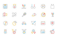Sports Colored Outline Vector Icons 5 Stock Image