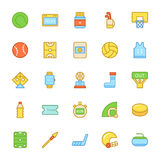 Sports Colored Vector Icons 4 Stock Photo