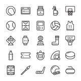 Sports Colored Vector Icons 4 Royalty Free Stock Photography