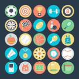 Sports Colored Vector Icons 1. Lets play Here are the icons of Sports equipment. They can be used for sports and outdoor games. This Icons set is useful for your Royalty Free Stock Photo