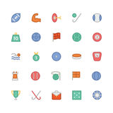 Sports Colored Vector Icons 4 Stock Photos