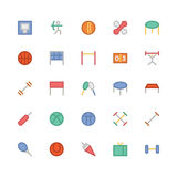 Sports Colored Vector Icons 5 Stock Images