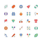 Sports Colored Vector Icons 1 Stock Images