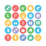Sports Colored Vector Icons 2 Royalty Free Stock Photography