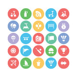 Sports Colored Vector Icons 7 Royalty Free Stock Photography