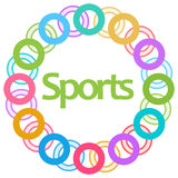 Sports Colorful Circular Background Stock Photo