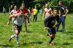 Sports competition in the Kaluga region in Russia. royalty free stock photos