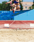Sports competitions long jump Royalty Free Stock Image