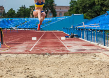 Sports competitions long jump Royalty Free Stock Photos
