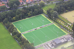 Sports complex with fields for games Stock Images