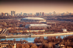 Sports complex Luzhniki in Moscow Stock Images