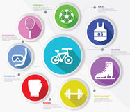 Sports concept,Colorful version. Set of Sports concept,Colorful version Royalty Free Stock Images