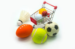 Sports Concept : Various sports balls Royalty Free Stock Photo