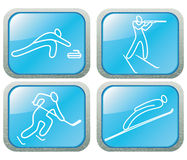 Sports contour  icons set. Royalty Free Stock Photography