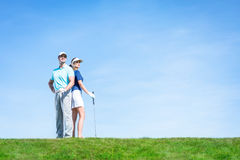 Sports couple Stock Photography