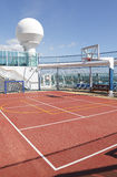 Sports court stock photo