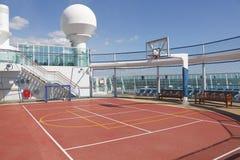 Sports court on cruise ship stock photos