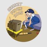 Sports of cricket concept with a batsman. Stock Photos