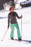 Sports cross country skier Royalty Free Stock Photography
