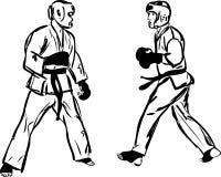 Sports d'arts martiaux de Kyokushinkai de karaté Photos libres de droits