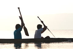 Sports d'eau Images libres de droits