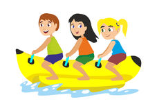 Sports d'extrémité de l'eau de bateau de banane Photographie stock
