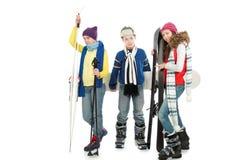 Sports d'hiver Photos libres de droits