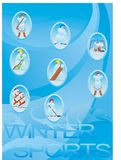 Sports d'hiver Images stock