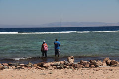 Sports in Dahab of Egypt. Dahab back on mount sinai, superior terrain, let there be sailing, aquatic paraglider, surfing, scuba diving, sea fishing, the deserts Stock Images