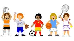 sports de filles illustration libre de droits