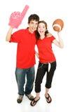 sports de ventilateurs de l'adolescence photographie stock
