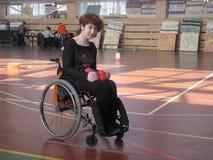 Sports des invalids handicapés de fauteuil roulant Images libres de droits