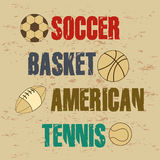 Sports. Design over  vintage background vector illustration Stock Photo