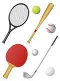 Sports die Ikonen, die auf Weiß getrennt werden Lizenzfreie Stockfotografie