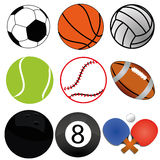 Sports. Different sports ball on white background Stock Image