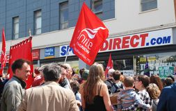 Sports Direct picket , Hastings Stock Photo