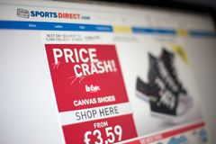 Sports Direct web site Stock Photos