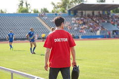 Sports doctor Royalty Free Stock Photos