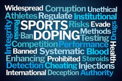 Sports Doping Word Cloud royalty free stock image