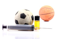 Sports and drugs Stock Photography
