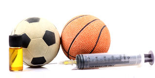 Sports and drugs Royalty Free Stock Photos