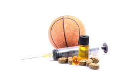 Sports and drugs Royalty Free Stock Images