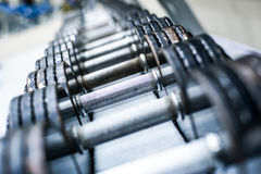 Sports dumbbells Royalty Free Stock Photography