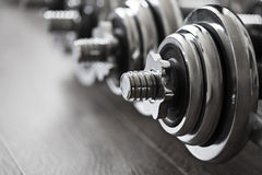 Sports dumbbells Stock Photos