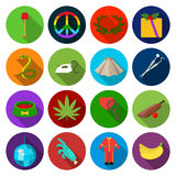 Sports, ecology, history and other web icon in flat style.hobby, business, buffet icons in set collection. Stock Images