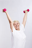 Sports elderly woman Stock Photo