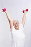 Sports Elderly Woman Stock Photo
