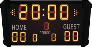 Sports Electronic Scoreboard. Vector illustration Royalty Free Stock Image